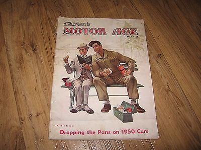 Chilton's Motor Age Magazine (Dropping the Pans on 1950 Cars) JULY 1950