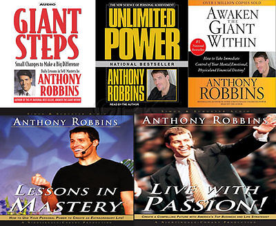NEW 17 CD (5 sets) Anthony Tony Robbins Lessons in Mastery Live with Passion nlp