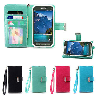 IZENGATE Wallet Flip Case PU Leather Cover for Samsung Galaxy S5 ACTIVE (G870)