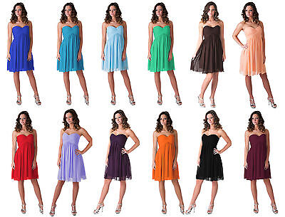 Formal Bridesmaid Wedding Party Prom Evening Gown Cocktail Elegant Dress 0 - 18