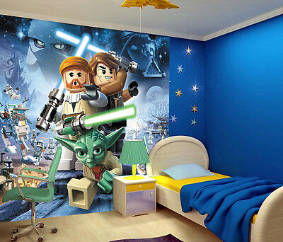 kinder fototapete star wars 210x200 cmtapete poster bild zimmer wand lego. Black Bedroom Furniture Sets. Home Design Ideas
