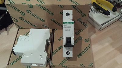 Crabtree Loadstar 20A Type B Mcb Circuit Breakers New B20 6Msb20