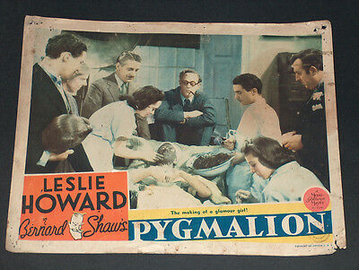 Vintage Pygmalion Movie By Leslie Howard Poster Lobby Card, Usa, 1938