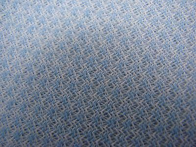 OVER 3 YARDS OF VINTAGE PALE BLUE THINNER POLYESTER DOUBLE KNIT FABRIC