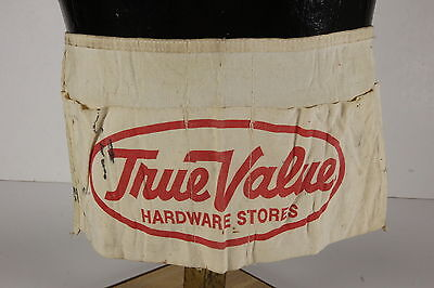 True Value Hardware Stores Canvas Nail Carpenter Apron Advertiser Waist Ties