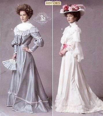 PATTERN for Titanic Era Turn of the Century Butterick 5970 Historical dress 6-22