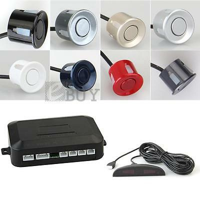 Car LED Display Reverse Backup Radar System with 4 Parking Sensor Black/Red/Grey