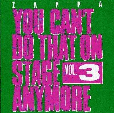 Frank Zappa - You Can't Do That On Stage Anymore, Vol. 3 (NEW 2CD)