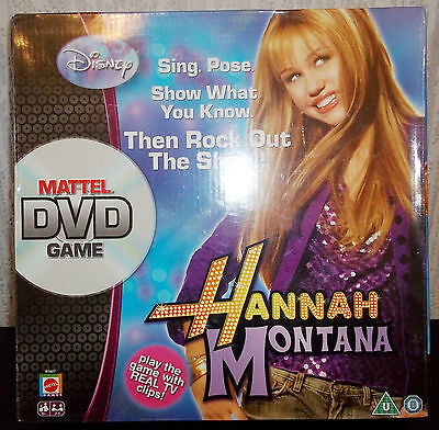 Hannah Montana - Mattel Dvd Game - Perform & Test Your Knowledge - New/sealed
