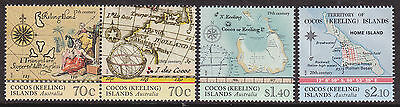 2014 Maps of Cocos Island - MUH Complete Set