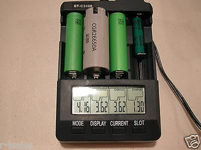 BT-C3100 Li-ion 18650 Battery Analyzer Tester Refresh Charger Discharge NiMH