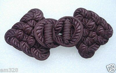 MR141 Rose Loopy Corded Macrame Fastener Frog Closure Knots White