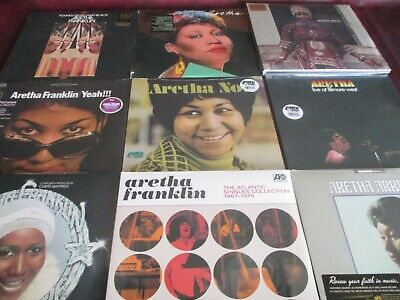 ARETHA FRANKLIN Soul 69 COLLECTION OF 10 TITLES MOST 180 GRAM+MARKETING STICKERS