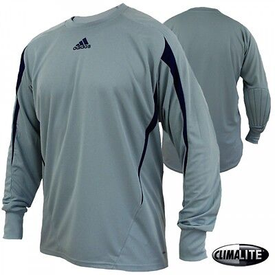 "adidas Freno Goalkeeper Goalkeeping Jersey Shirt Silver/Navy rrp£40 (XL 42-44"")"