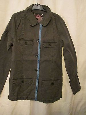 Sophie, Khaki Utility Fashion  Girls Jacket, Size 12/13Years
