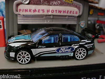 2014 Hot Wheels FORD FALCON RACE CAR~New Black w/Blue Int~Multi Pack Ex~LOOSE