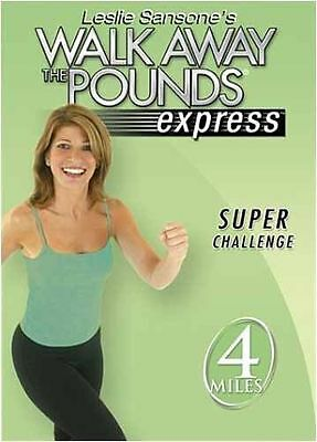 Leslie Sansone - Walk Away the Pounds Express: Super Challenge (DVD, 2003) - NEW