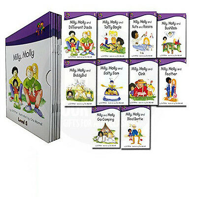 Read at home Level 5 Milly Molly 10 Children's Books Box Set School Reading
