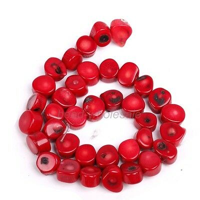 Hot Natural Coral Gemstone 10*12mm Nugget Loose Spacer Beads 16'' Strand,red