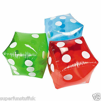 GIANT INFLATABLE GREEN DICE NOVELTY GARDEN OUTDOOR FAMILY GAME BEACH TOY PARTY