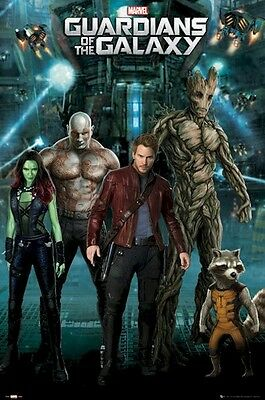 Guardians of the Galaxy Movie Poster - Star Lord 24x36 Peter Quill Pratt v5
