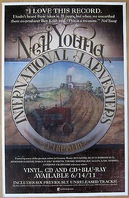Neil Young - INTERNATIONAL HARVESTERS Promo Poster [2011] - NM