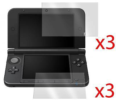 6 x LCD SCREEN PROTECTOR COVER GUARD & CLOTH FOR NINTENDO 3DS XL LL