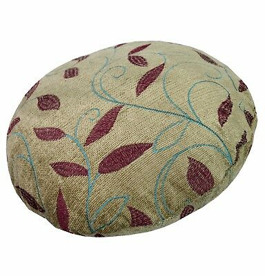 wh06g Pale Olive Embroidered Chenille Throw Bolster COVER Neck Roll Pillow CASE