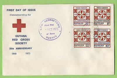 Guyana 1973 25th Anniv of Guyana Red Cross First Day Cover, sq format