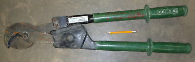 Greenlee Racheting Wire Cable Cutter Copper Alum 1500 MCM PN# 756