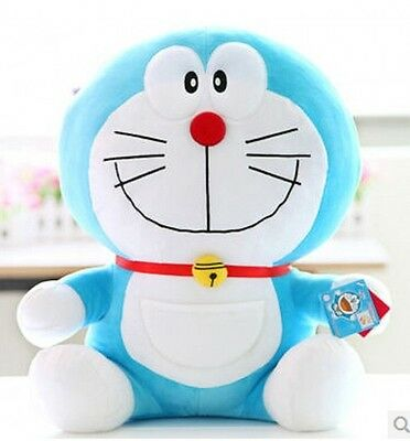 "25cm 10"" Adorable Doraemon Collection Plush Stuffed Animal Toy smile style WJ013"