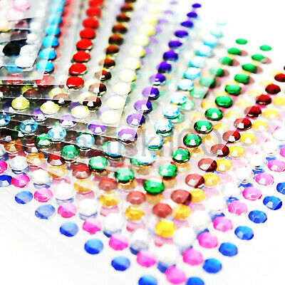 DIAMOND STICKERS RHINESTONE STRIP CRYSTAL DIAMANTE STICK ON 3mm SELF ADHESIVE