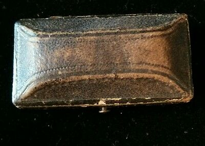 Antique Leather Jewelry Earrings Box