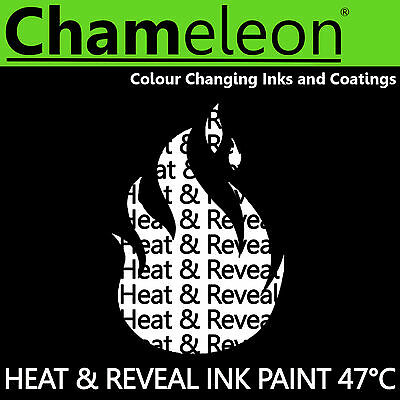 Thermochromic Colour Changing Ink Paint for Screen Printing - 47°C Black