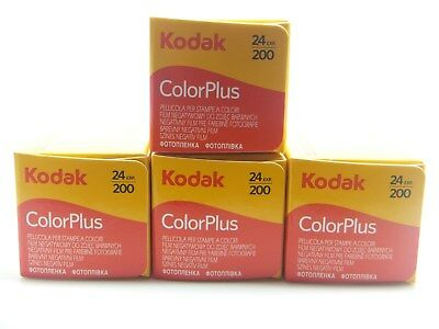 4 x KODAK COLORPLUS 200 35mm 24Exp CHEAP COLOUR PRINT FILM -1st CLASS ROYAL MAIL