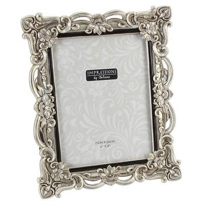 "Antique Silver Vintage Ornate Shabby Chic Picture Photo Frame 6"" X 8"" FR47768"