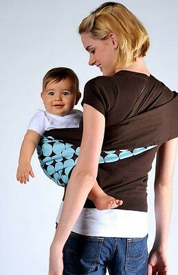 Cotton Baby Toddler Infant Sling Carrier Wrap Pouch carrier Blue 0-3 Years
