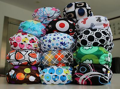 New Printed Cloth Diaper Nappy Newborn Baby Infant All In One Size Adjustable