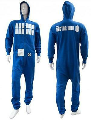 Dr Who: Official BBC Tardis Fleece Lined Jumpsuit / Onesie - New With Tag