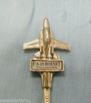 #d122.  F/a-18 Hornet Aircraft Williamtown Collector Spoon