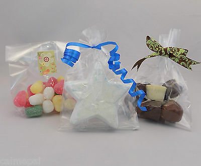 "10000 x Clear Cello Gift Party Display Sweet Bags  Gusset 7"" (tall) x 4"" x 2.75"""