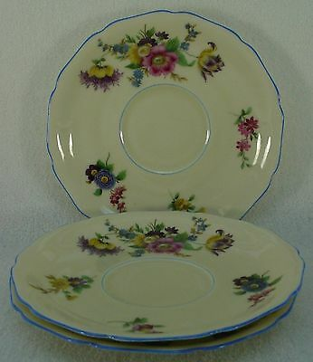 HUTSCHENREUTHER china PRIMARVERA 11872 pattern CREAM SOUP SAUCER only set of 3