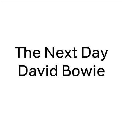 """David Bowie - The Next Day 7"""" (Square / White) (NEW 7"""" VINYL)"""