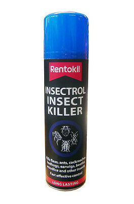 Rentokil Insectrol Insect Killer Spray 250ml - Kills Fleas Ants Cockroaches etc