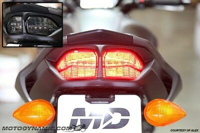 2011-2013 Yamaha FZ8 FZ8N INTEGRATED SEQUENTIAL SIGNAL LED Tail Light SMOKE