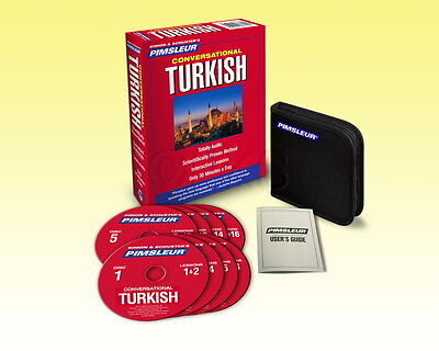 New 8 CD Pimsleur Learn to Speak Turkish Language Language (16 Lessons)