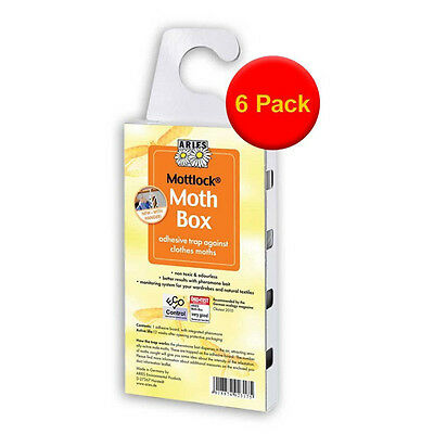 VALUE PACK of 6 Mottlock Moth Boxes from Aries The Best Catch Rates for moths
