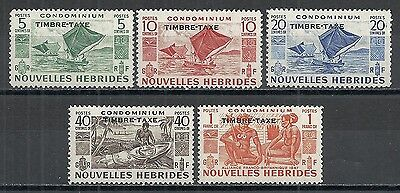 New Hebrides stamps 1953 SG FD92-FD96  MLH  VF