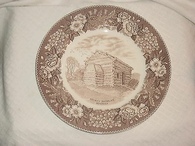 Souvenir of Lincoln's Birthplace Kentucky Old English Staffordshire Ware Plate