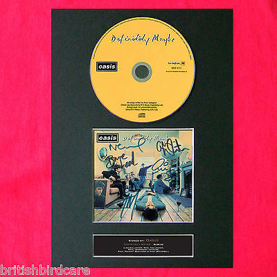 OASIS Definitely Maybe RARE Signed Album COVER Repro Print A4 Autograph (45)